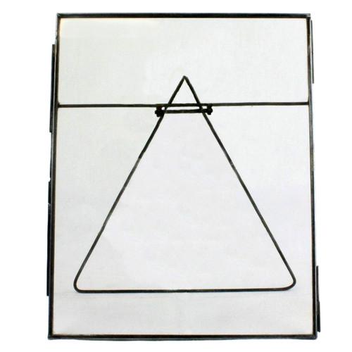 8x10 Jumbo Black Metal Vertical Glass Frame. 394421