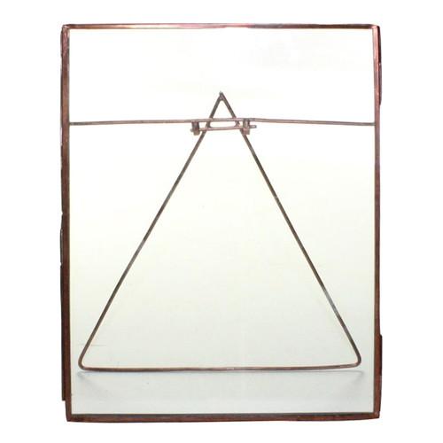 8x10 Jumbo Copper Metal Vertical Glass Frame. 394423