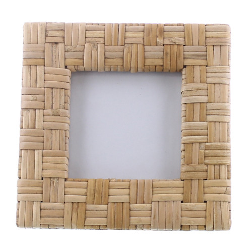 4x4 Woven Bamboo Square Frame. 394438