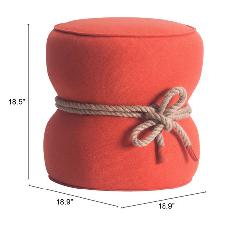 Orange Cinch Ottoman. 394538