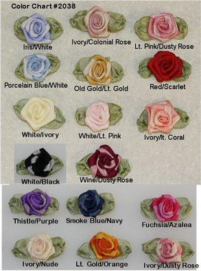Ribbon Embroidery Coiled/Spider Web Rose (Two-tone)