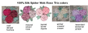 Silk Spider Web Rose Trio