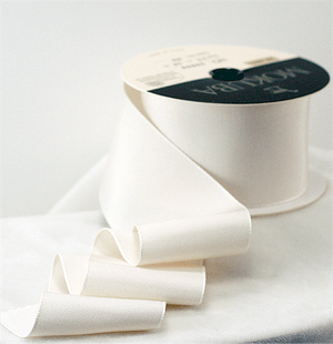 Bridal Silk Taffeta Ribbon #00 Bridal Ivory