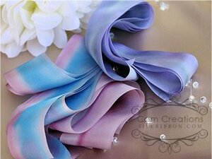 Hand Dyed Silk Embroidery Ribbon, 32mm Custom