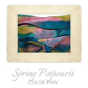 Hand Dyed Silk Embroidery Ribbon, 32mm #90V