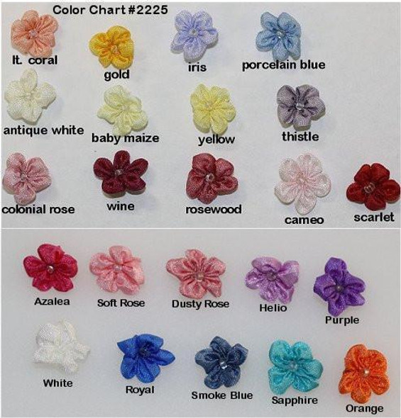 Ribbon Embroidery Five Petal Blossom