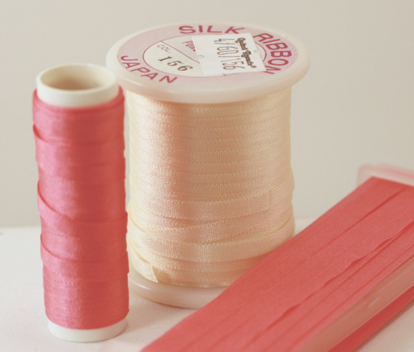Pure Filament Silk Embroidery Ribbon 4mm