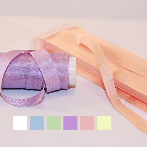 Pure Filament Silk Embroidery Ribbon 7mm