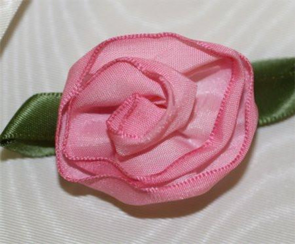 Wire Edge Ribbon Tea Rose