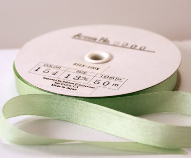 Pure Filament Silk Embroidery Ribbon 13mm