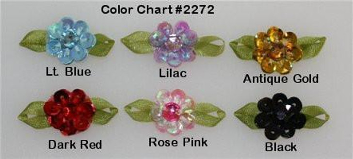 Ribbon Embroidery Sequined Small Flower