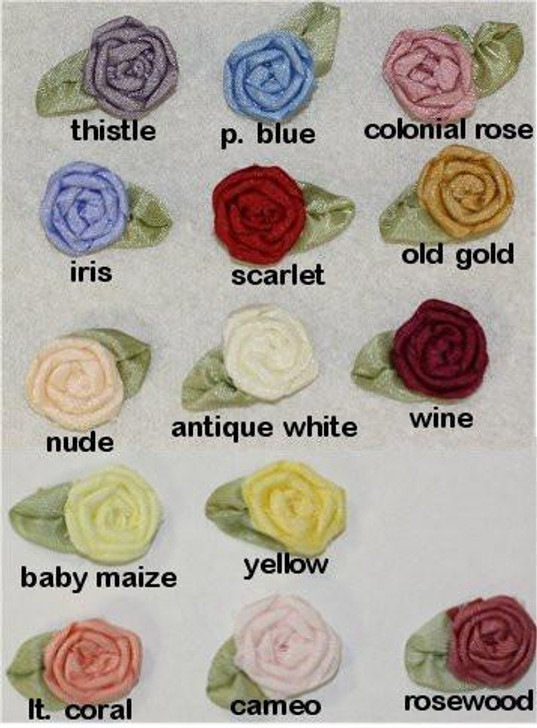 Ribbon Embroidery Coiled/Spider Web Rose