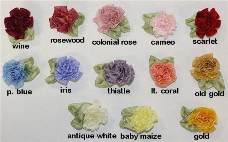 Ribbon Embroidery Cabbage Rose