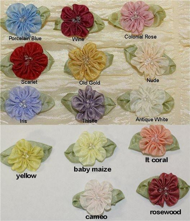 Ribbon Embroidery Gathered Petal Blossom