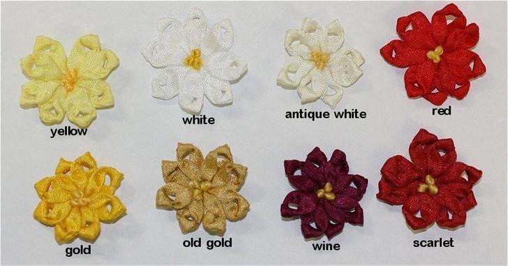Ribbon Embroidery Lazy Daisy Flower