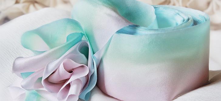Bias Cut Silk Habotai Ribbon