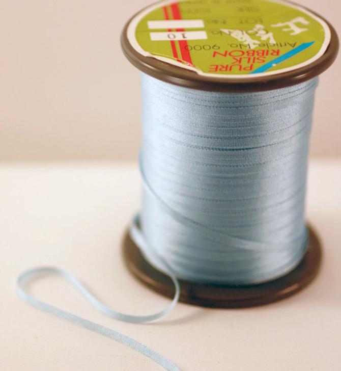 Pure Filament Silk Embroidery Ribbon 2mm
