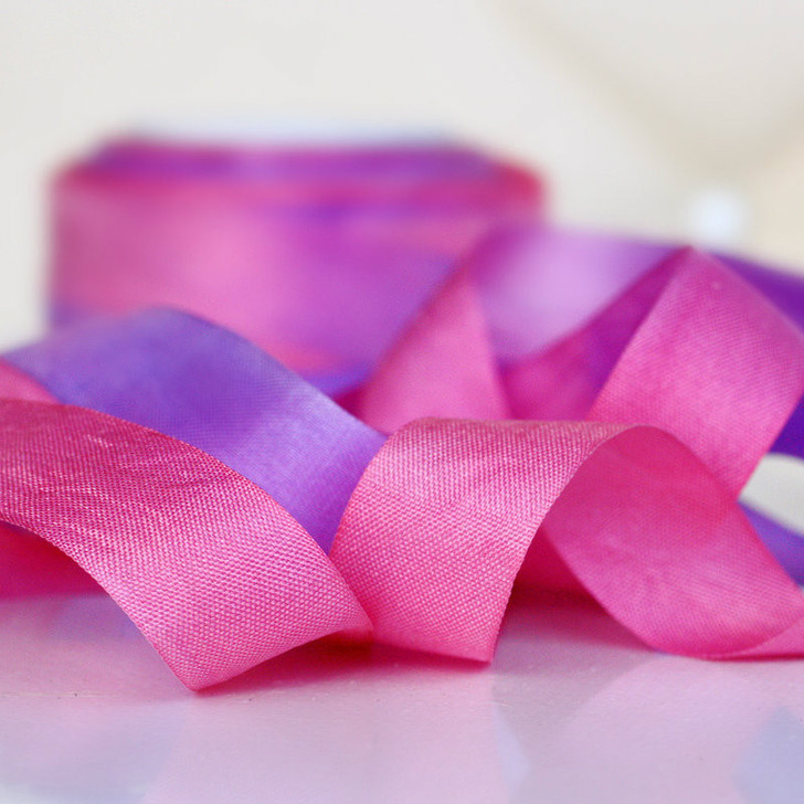 Hand Dyed Silk Embroidery Ribbon, 13mm