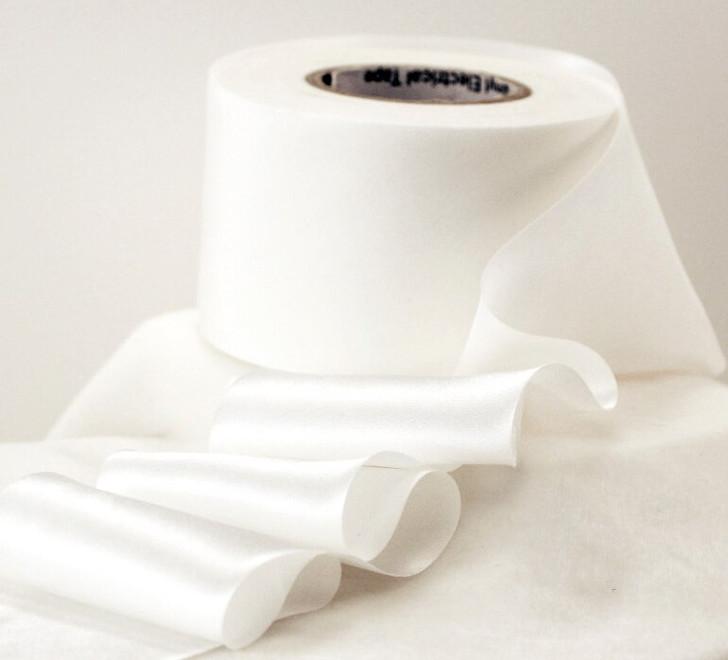 Bias Cut Silk Satin Ribbon, White