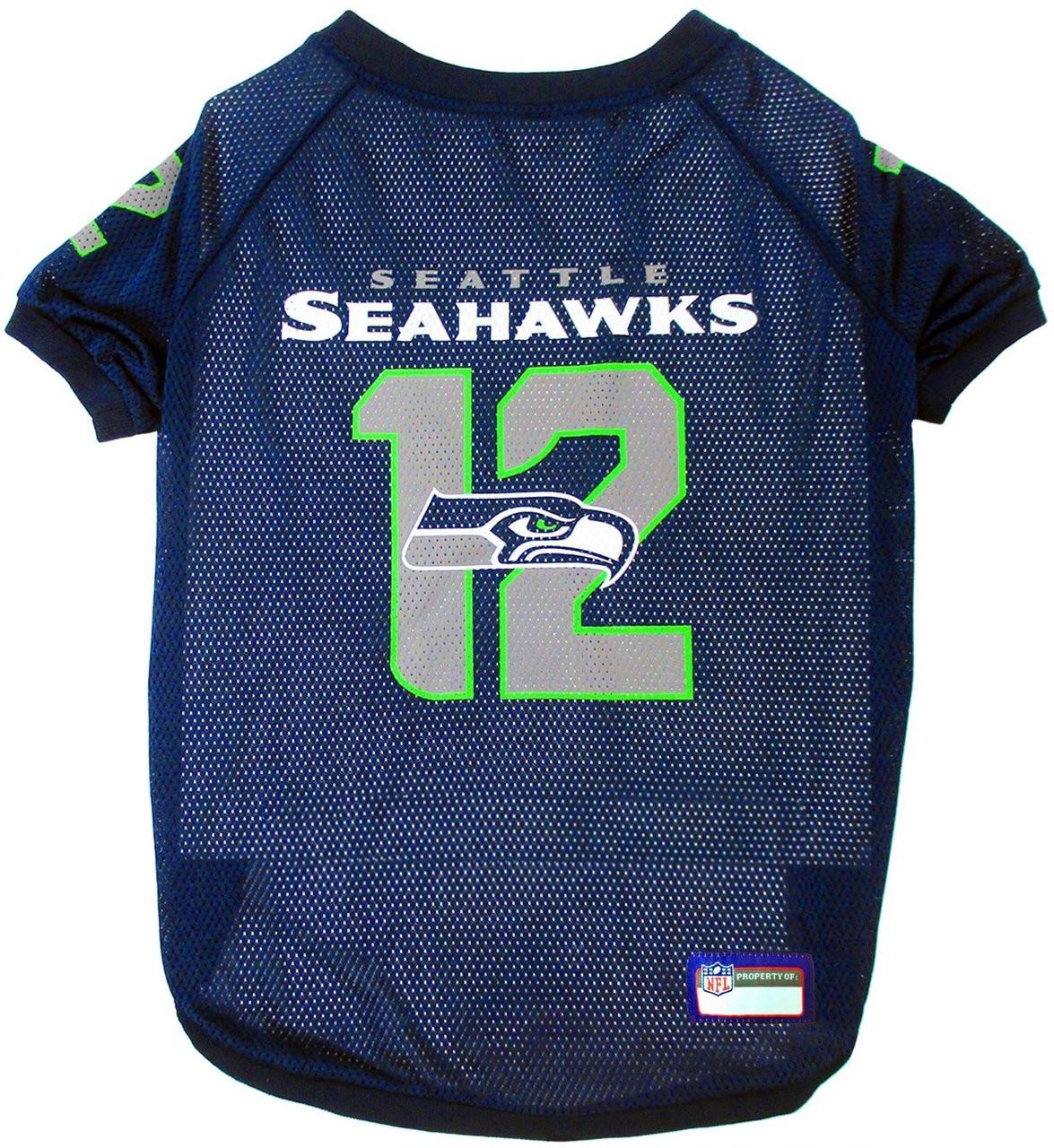Seattle Seahawks NFL Pet Jersey - 12th Man   Hot Dog Collars