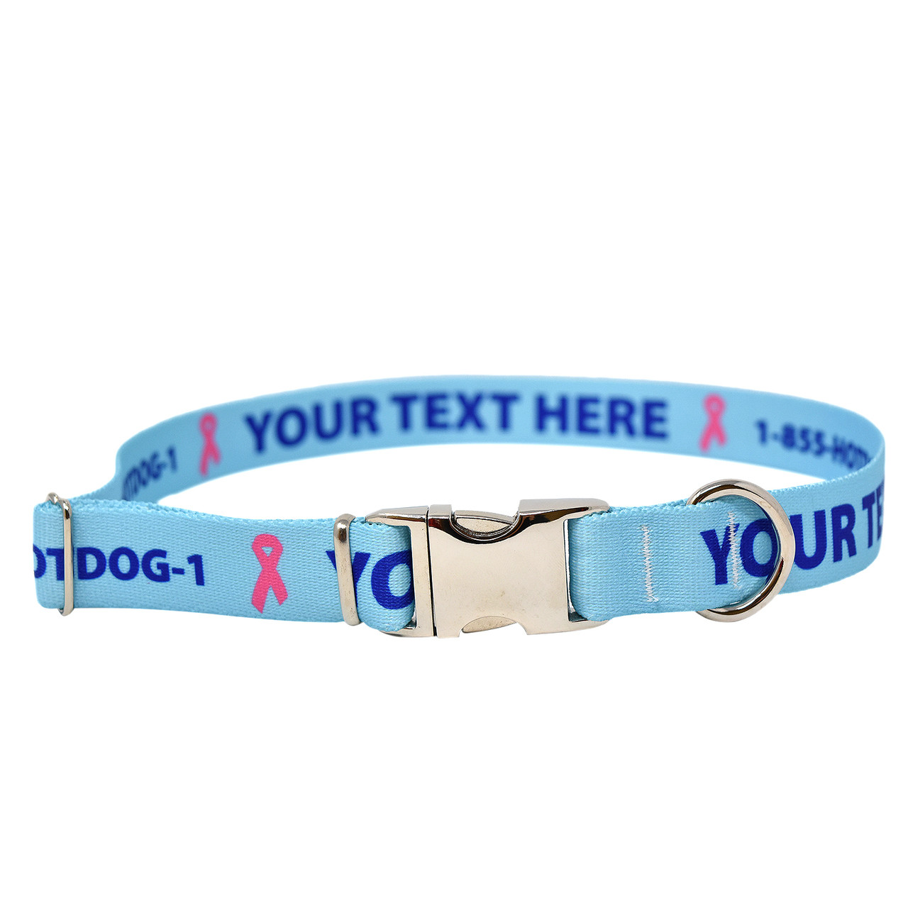 Personalized Premium Dog Collar with Metal Clasp Available in 20 Colors Multiple Sizes Made in The USA
