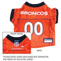 buy popular 5bef6 2877b Denver Broncos Dog Collar: Clothes, Apparel, Lead & ID Tags ...