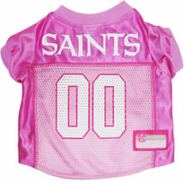 New Orleans Saints PINK NFL Football Pet Jersey