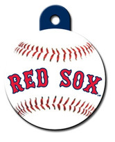 Boston Red Sox ROUND Engraved Dog ID Tag