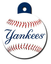 New York Yankees ROUND Engraved Dog ID Tag