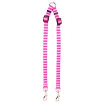 Pink and Pink Stripe Coupler Dog Leash