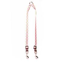 Pink and Green Polka Dot Coupler Dog Leash