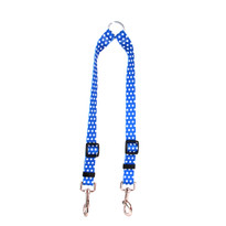 Navy Polka Dot Coupler Dog Leash