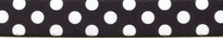 Licorice Polka Dot Coupler Dog Leash