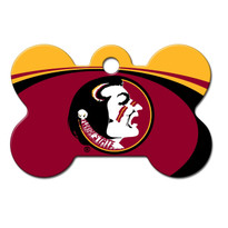 Florida St Seminoles Engraved Pet ID Tag