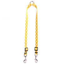 Lemon Polka Dot Coupler Dog Leash