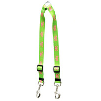Green and Pink Skulls Coupler Dog Leash