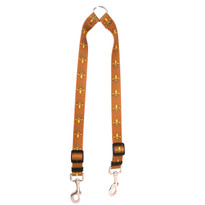 Fleur de Lis Gold Coupler Dog Leash