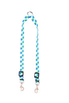 Blue and Green Stripes Coupler Dog Leash