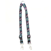 Black Paisley Coupler Dog Leash