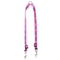 Bella Bone Pink Coupler Dog Leash