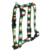 "Irish Flag Roman Style ""H"" Dog Harness"