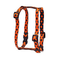 "Halloween Polka Dot Roman Style ""H"" Dog Harness"