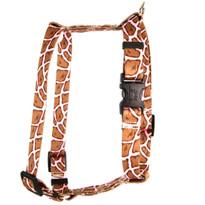 "Giraffe Pink Roman Style ""H"" Dog Harness"