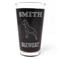 Personalized Pint Glass Beer Mug - Beagle