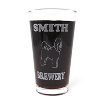 Personalized Pint Glass Beer Mug - Bichon Frise