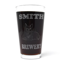 Personalized Pint Glass Beer Mug - Boston Terrier