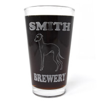 Personalized Pint Glass Beer Mug - Italian Greyhound