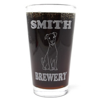 Personalized Pint Glass Beer Mug - Jack Russel