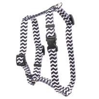 "Chevron - Licorice Roman Style ""H"" Dog Harness"