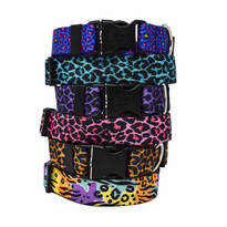 Leopard Print - Personalized Dog Collar